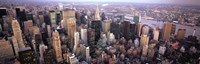 """Aerial View of New York City Skyline by Panoramic Images - 36"""" x 12"""""""
