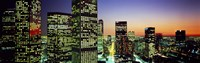 """Downtown Los Angeles CA USA by Panoramic Images - 36"""" x 12"""", FulcrumGallery.com brand"""