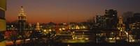 "Buildings lit up at night, La Giralda, Kansas City, Missouri, USA by Panoramic Images - 36"" x 12"""