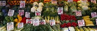 """Close-up of Pike Place Market, Seattle, Washington State, USA by Panoramic Images - 36"""" x 12"""""""