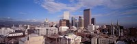 """Aerial View of Denver, Colorado by Panoramic Images - 36"""" x 12"""" - $34.99"""