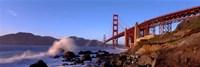 "Bridge across the bay, San Francisco Bay, Golden Gate Bridge, San Francisco, Marin County, California, USA by Panoramic Images - 36"" x 12"""
