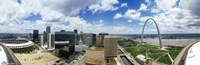 "Buildings in a city, Gateway Arch, St. Louis, Missouri, USA by Panoramic Images - 36"" x 12"""