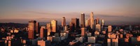 "Skyline At Dusk, Los Angeles, California, USA by Panoramic Images - 36"" x 12"""