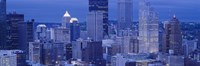 """Buildings in a city lit up at dusk, Pittsburgh, Pennsylvania, USA by Panoramic Images - 36"""" x 12"""""""