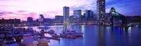 Sunset, Inner Harbor, Baltimore, Maryland, USA Fine Art Print
