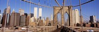 "Brooklyn Bridge Manhattan New York NY USA by Panoramic Images - 36"" x 12"""