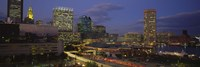 """High angle view of a cruise ship docked at a harbor, Inner Harbor, Baltimore, Maryland, USA by Panoramic Images - 36"""" x 12"""""""