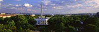 Aerial View of White House, Washington DC Fine Art Print
