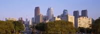 "Downtown Philadelphia, Pennsylvania, USA by Panoramic Images - 36"" x 12"", FulcrumGallery.com brand"