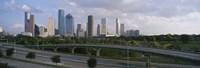 Houston Skyline from a Distance, Texas, USA Fine Art Print