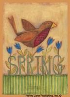 "Spring Robin by Bernadette Mood - 5"" x 7"""