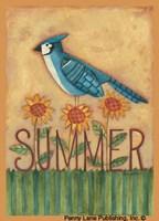 "Summer Blue Jay by Bernadette Mood - 5"" x 7"" - $9.99"