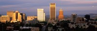 """Cityscape at sunset, Portland, Multnomah County, Oregon, USA by Panoramic Images - 36"""" x 12"""""""