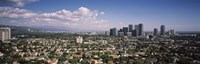 """High angle view of a cityscape, Century city, Los Angeles, California, USA by Panoramic Images - 36"""" x 12"""", FulcrumGallery.com brand"""