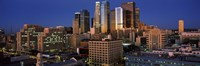 """Los Angeles, Night Sky by Panoramic Images - 36"""" x 12"""""""