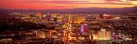 "Aerial Las Vegas NV USA by Panoramic Images - 36"" x 12"""