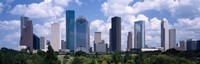 """Skyscrapers in a city, Houston, Texas, USA by Panoramic Images - 36"""" x 12"""", FulcrumGallery.com brand"""