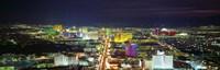 "Skyline, Las Vegas, Nevada, USA by Panoramic Images - 36"" x 12"", FulcrumGallery.com brand"