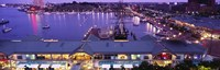 """Buildings at a harbor, Inner Harbor, Baltimore, Maryland, USA by Panoramic Images - 36"""" x 12"""""""