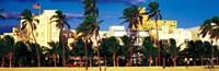 "Ocean Drive South Beach Miami Beach FL by Panoramic Images - 36"" x 12"""