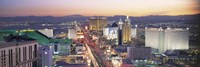 """The Strip at dusk, Las Vegas NV by Panoramic Images - 36"""" x 12"""""""