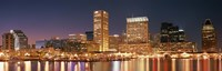"""Baltimore Lit Up at Dusk, Maryland by Panoramic Images - 36"""" x 12"""""""