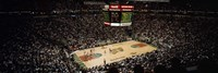 """Spectators watching a basketball match, Key Arena, Seattle, King County, Washington State, USA by Panoramic Images - 36"""" x 12"""""""