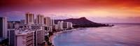 Sunset Honolulu Oahu HI USA Fine Art Print