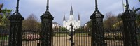 Facade of a church, St. Louis Cathedral, New Orleans, Louisiana, USA Fine Art Print