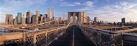 "Pedestrian Walkway Brooklyn Bridge New York NY USA by Panoramic Images - 36"" x 12"""