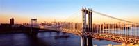 """Manhattan Bridge, NYC, New York City, New York State, USA by Panoramic Images - 36"""" x 12"""", FulcrumGallery.com brand"""