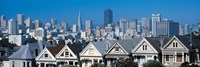 """Victorian houses Steiner Street San Francisco CA USA by Panoramic Images - 36"""" x 12"""""""