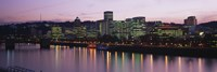Buildings at Night, Portland, Oregon by Panoramic Images - various sizes