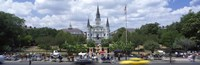 Cathedral at the roadside, St. Louis Cathedral, Jackson Square, French Quarter, New Orleans, Louisiana, USA Fine Art Print