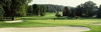 """Four people playing on a golf course, Baltimore County, Maryland, USA by Panoramic Images - 36"""" x 12"""""""