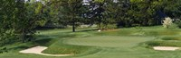 """Sand traps on the golf course at Baltimore Country Club, Baltimore by Panoramic Images - 36"""" x 12"""""""