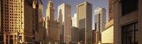 """Close up of Skyscrapers in Chicago by Panoramic Images - 36"""" x 12"""""""