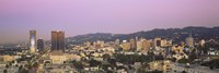"""High angle view of a cityscape, Hollywood Hills, City of Los Angeles, California, USA by Panoramic Images - 36"""" x 12"""", FulcrumGallery.com brand"""