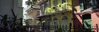 """Buildings along the alley, Pirates Alley, New Orleans, Louisiana, USA by Panoramic Images - 36"""" x 12"""""""
