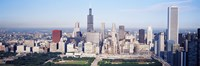 """Chicago Skyline from a Distance by Panoramic Images - 36"""" x 12"""""""