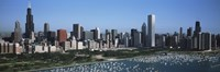 """Chicago Skyline with Water by Panoramic Images - 36"""" x 12"""""""