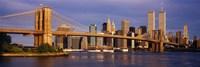 Bridge over a river, Brooklyn Bridge, Manhattan, New York City, New York State, USA Fine Art Print