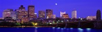 """Dusk Charles River Boston MA USA by Panoramic Images - 36"""" x 12"""""""