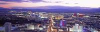 "Dusk Las Vegas NV USA by Panoramic Images - 36"" x 12"""