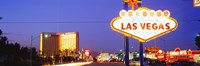 """Welcome Sign Las Vegas NV by Panoramic Images - 36"""" x 12"""""""