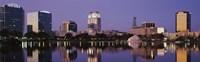 "Office Buildings Along The Lake, Lake Eola, Orlando, Florida, USA by Panoramic Images - 36"" x 12"""