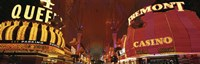 """Looking Down Fremont Street Las Vegas NV USA by Panoramic Images - 36"""" x 12"""""""