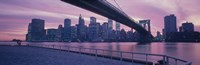 "Brooklyn Bridge New York NY by Panoramic Images - 36"" x 12"""