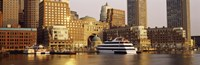 """Buildings at the waterfront, Boston, Massachusetts by Panoramic Images - 36"""" x 12"""""""